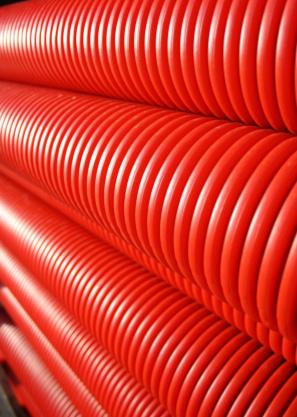 Mantelbuis rood 125 mm L = 6 m (rechte lengte)