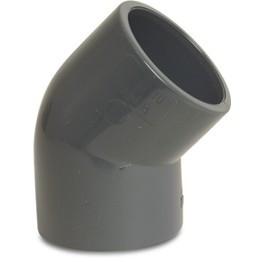 VDL PVC knie 45 graden 75 mm PN16