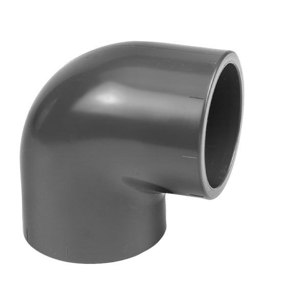 VDL PVC knie 90 graden 75 mm PN16