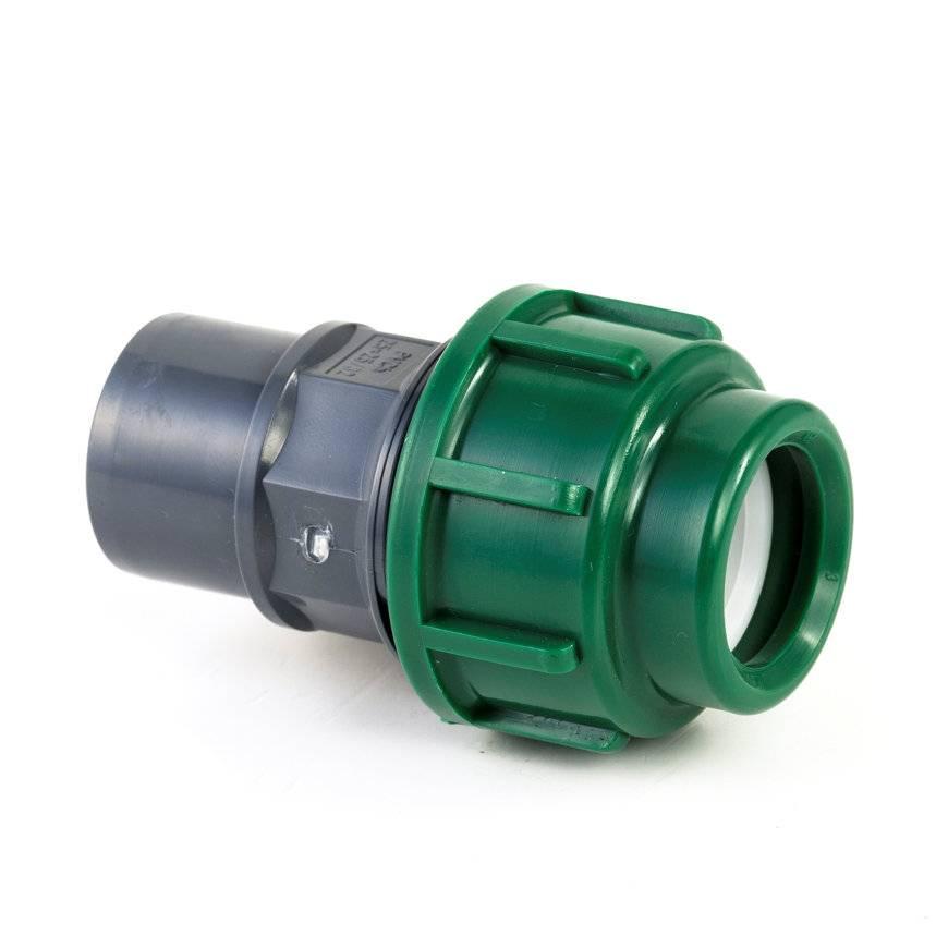 Tyleen PVC koppeling, klem / lijm, 10 bar, 25 x 25/32 mm