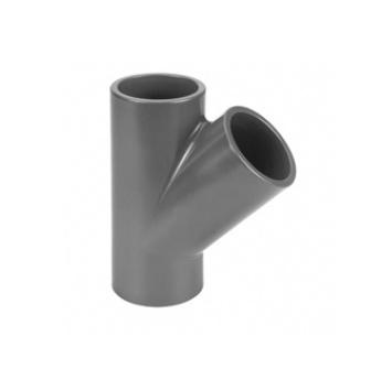 VDL PVC T-stuk 45 graden 75 mm PN10