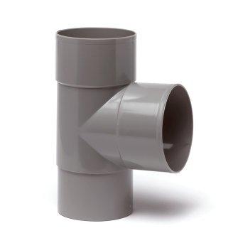 PVC HWA T-stuk 90 graden 80 mm (2x mof/verjongd spie)