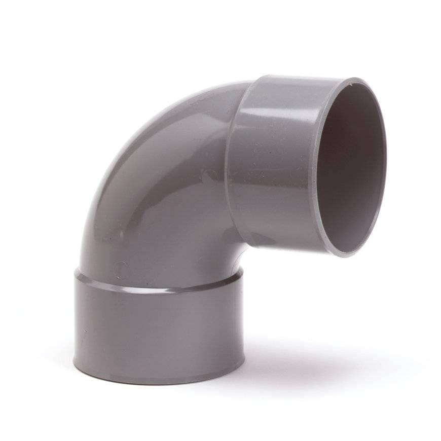 PVC bocht 88 graden 110 mm (mof/mof/lijm)