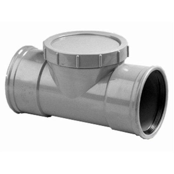 PVC ontstoppingsstuk 125 mm SN4 (mof/mof)
