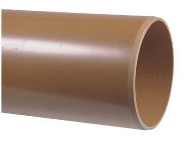 PVC afvoerbuis 125 mm SN4 bruin L = 5 m