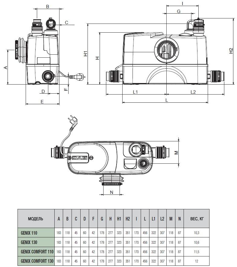 DAB Genix VT 030 vuilwater pompput
