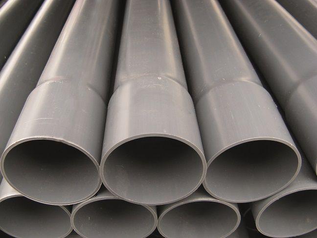 PVC drukleiding ongekeurd 90 L = 5 m, PN 10