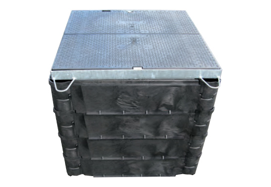 Carson STAKKA boxen - 610 x 610 mm bodemplaat met ring