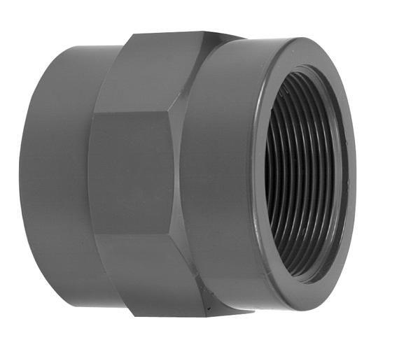 VDL PVC draadsok 1/4'' x 1/4'' PN16