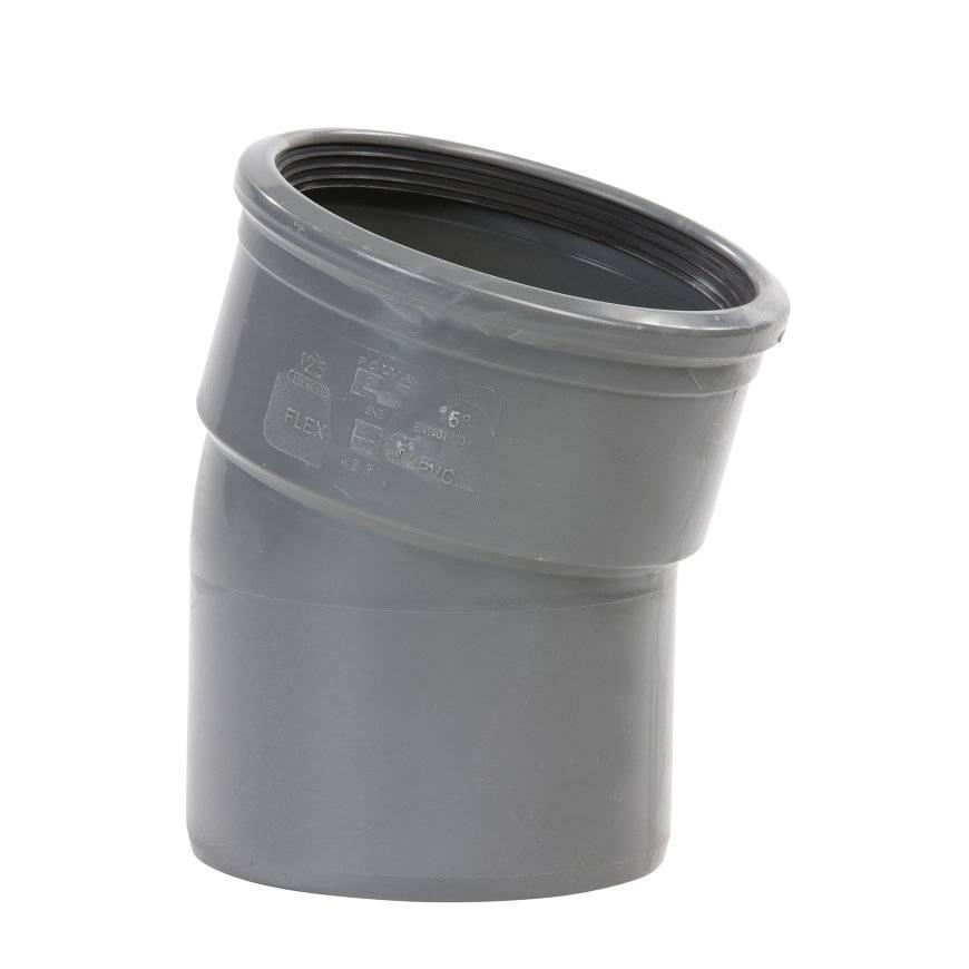 PVC bocht 15 graden 125 mm SN8 (mof/spie)