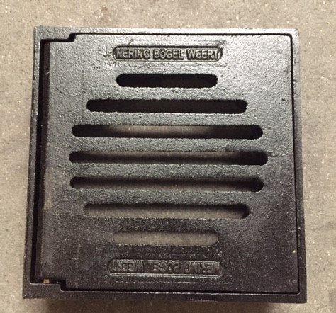 Tegelpadkolk 250 mm, gietijzer