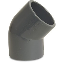 VDL PVC knie 45 graden 125 mm PN16