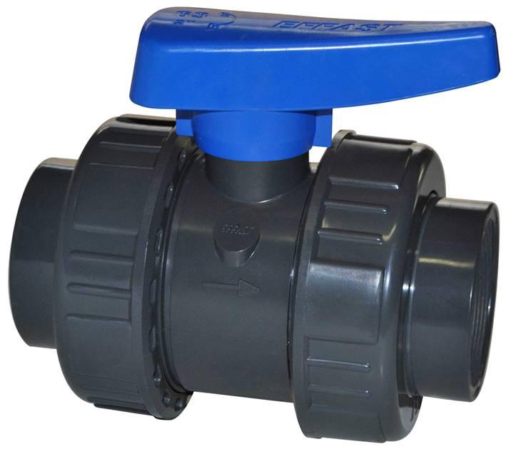 EFFAST PVC kogelkraan 2x wartel 20 mm (drukklasse 16 Bar)