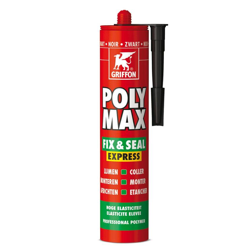 Griffon Poly Max Fix & Seal Express montagekit, zwart, 425 gr
