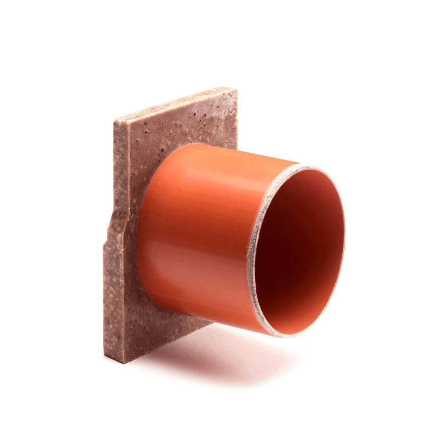 Anrin polyesterbeton eindstuk voor Self-Eco lijngoot - met uitloop 110 mm