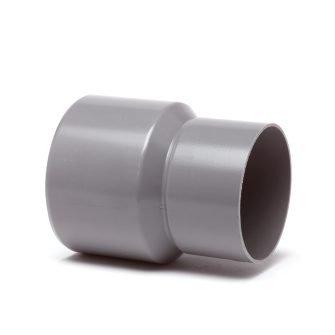 PVC HWA verloopstuk 80 x 125 mm (inwendig/uitwendig spie)