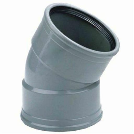PVC bocht 30 graden 125 mm SN4 (mof/mof)