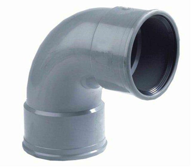 PVC bocht 88 graden 200 mm SN8 (mof/mof)