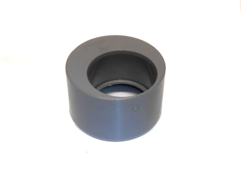 PVC verloopstuk excentrisch 125 x 75 mm