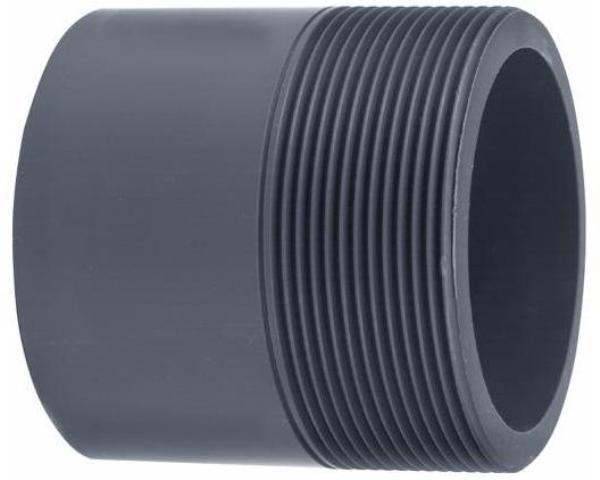 VDL PVC puntstuk handgevormd 25/32 x1'' PN16 rechte uitvoering