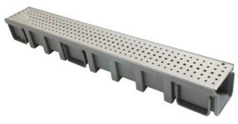 Nicoll Connecto 100 lijngoot met geperforeerd RVS sleufrooster L 100 x H 6 cm