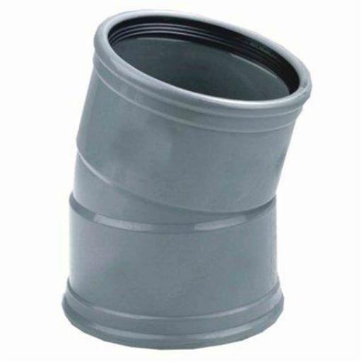 PVC bocht 15 graden 110 mm SN4/SN8 (mof/mof)