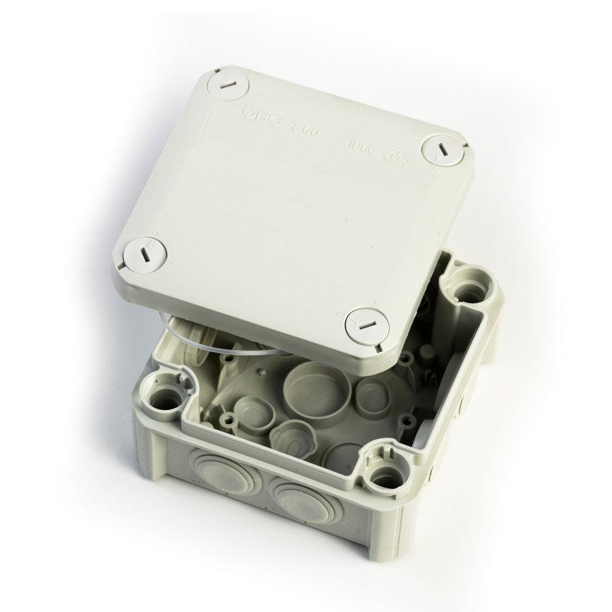kabeldoos T60F - 114 x 114 x 57 mm, IP 66, 500V