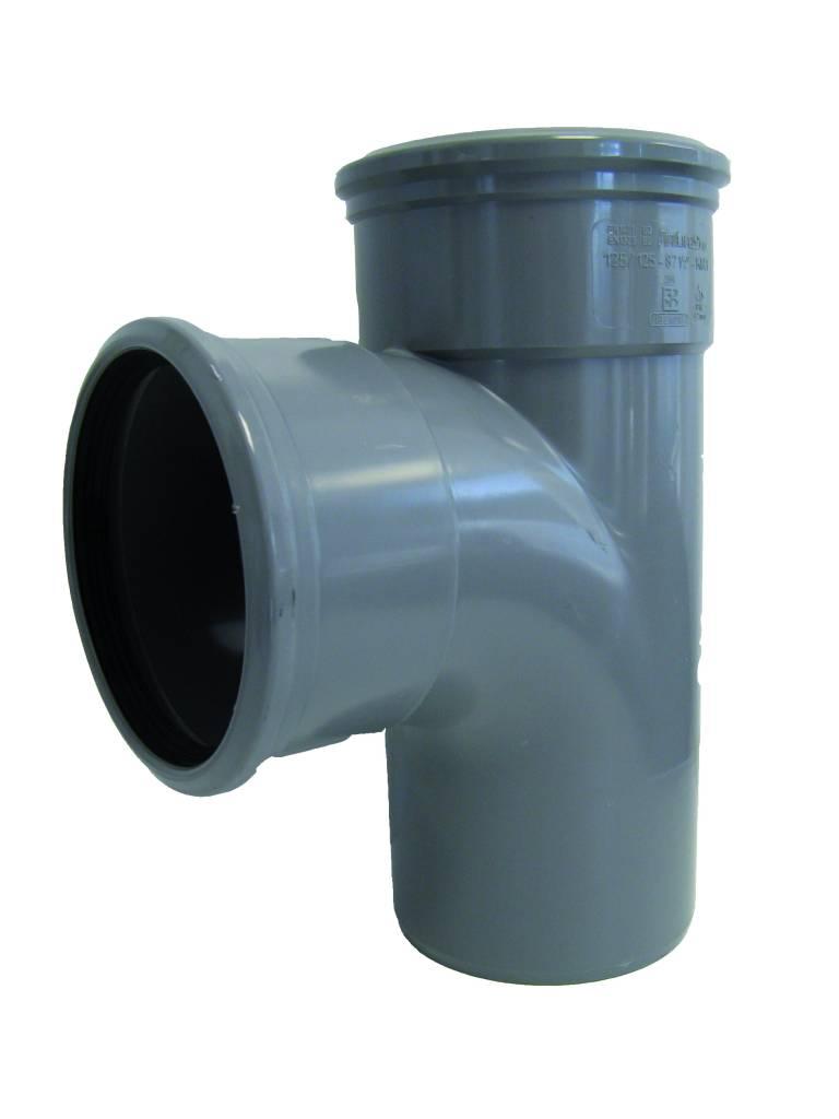 PVC T-stuk 45 graden 125 mm SN4 (2 x mof/spie)