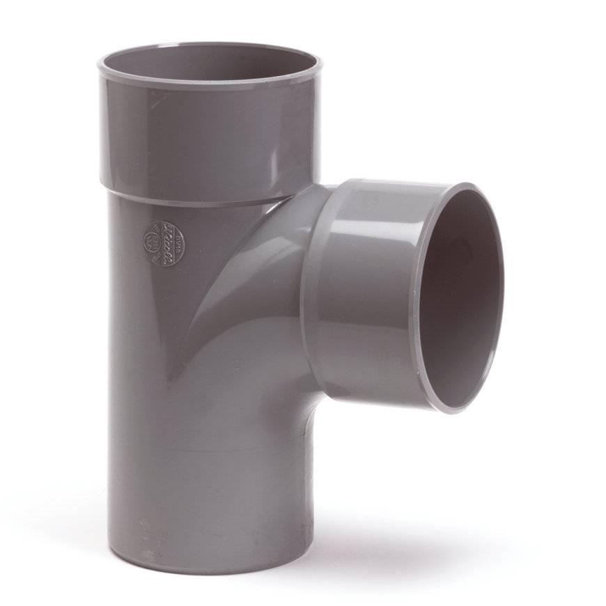 PVC T-stuk 88 graden 50 x 50 mm (mof/spie/lijm)
