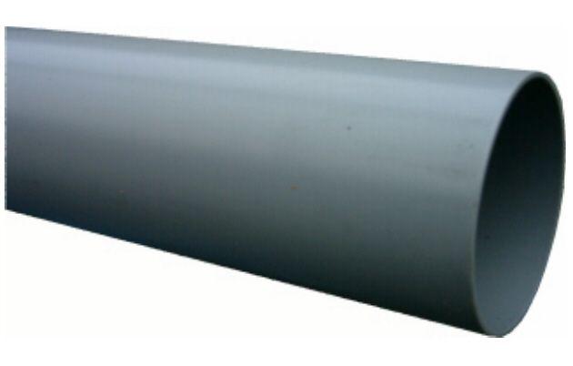 PVC afvoerbuis 125 mm SN8 grijs L = 5 m