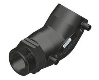 """Plasson Elektrolas overgangsknie 32 mm x 1"""" - 45 graden voor water bu.dr."""