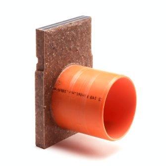 Anrin polyesterbeton eindstuk incl. uitloop voor KE-100 lijngoot H = 15 cm