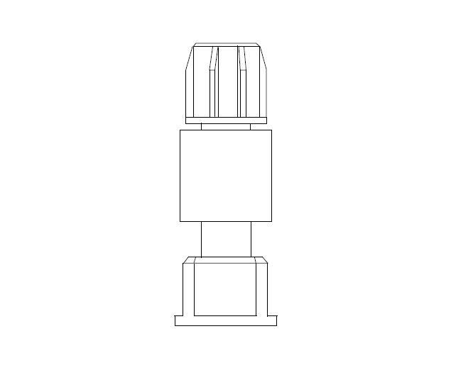 Manifold tussenstuk met kraan en 1'' wartel binnendraad
