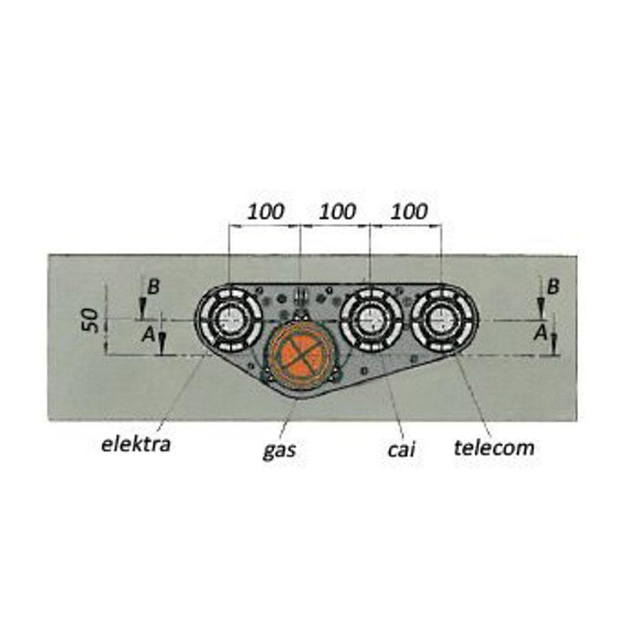 Funderingsdoorvoer L = 400 mm (compleet)