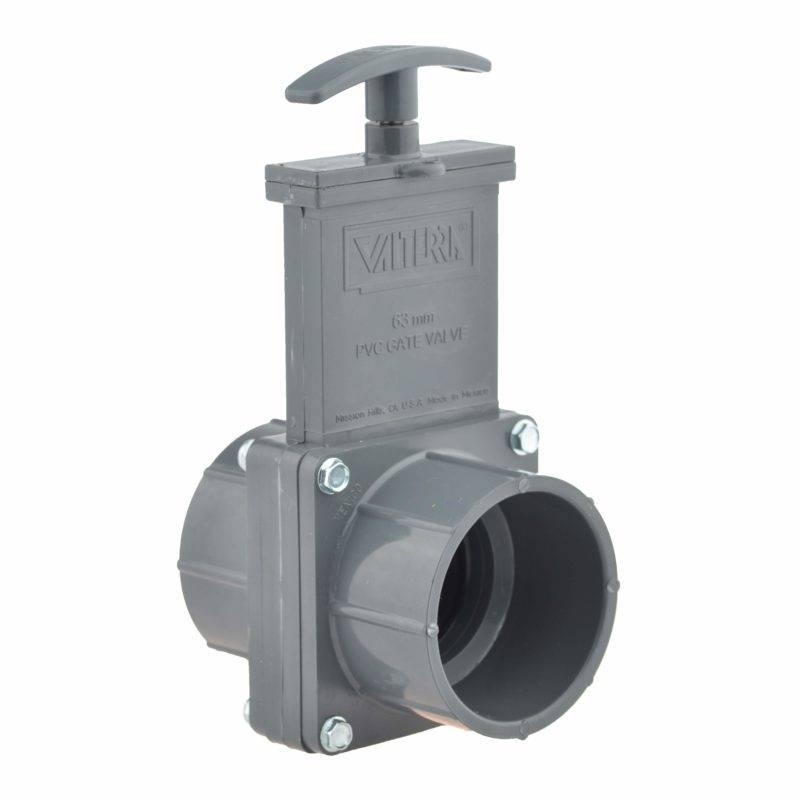 Valterra PVC schuifkraan 50 mm - 2 x lijmmof