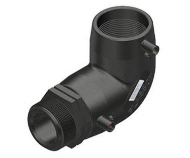"""Plasson Elektrolas overgangsknie 40 mm x 1 1/2"""" - 90 graden voor water bu.dr."""