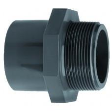 VDL PVC inzetpuntstuk zes-achtkant lijm 50 mm x 1 1/2'' PN16