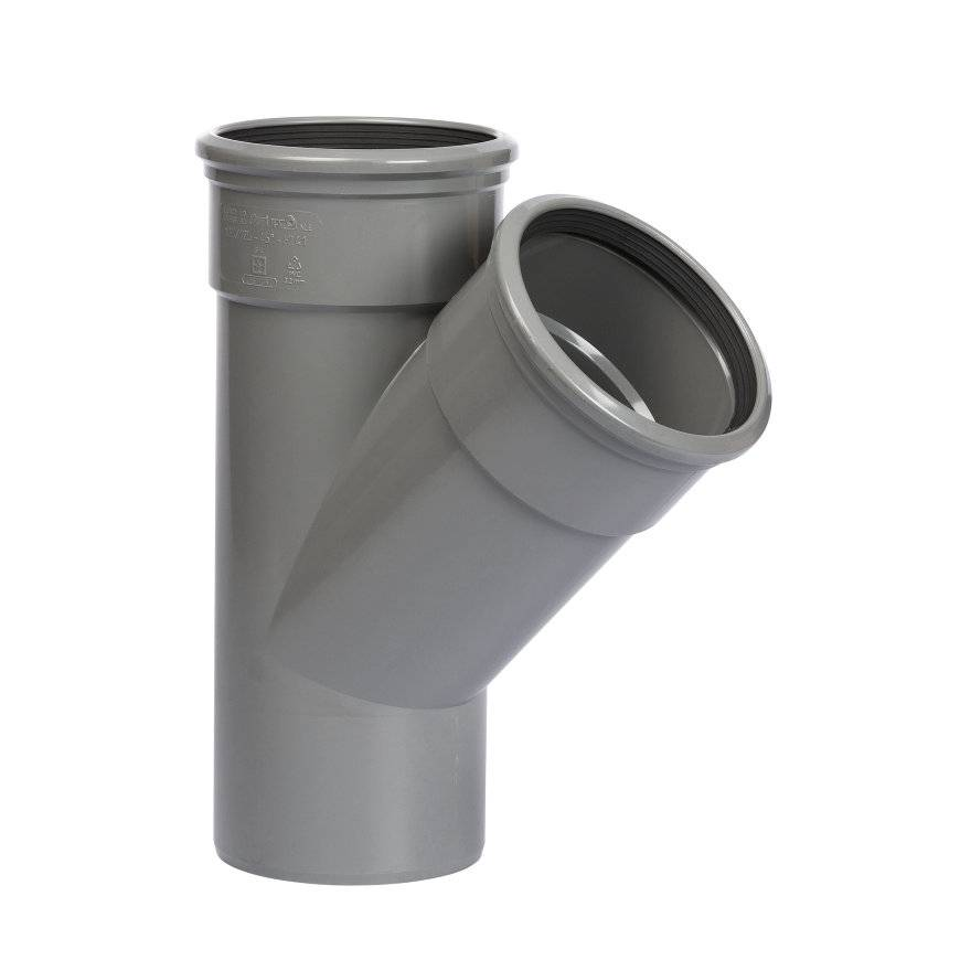 PVC T-stuk 45 graden 200 x 160 mm SN8 (mof/spie)