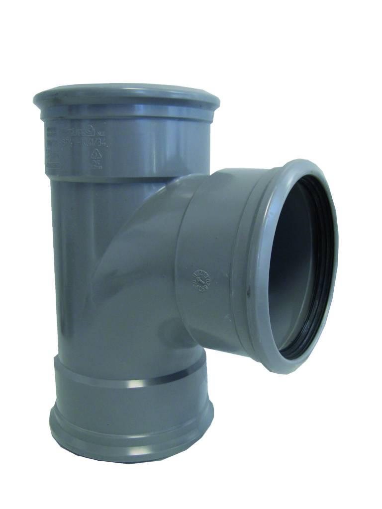PVC verloop T-stuk 88 graden 125x75 mm