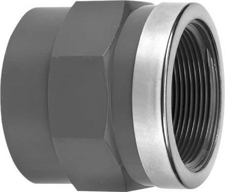 VDL PVC draadsok 16 mm x 3/8'' PN16 & ring