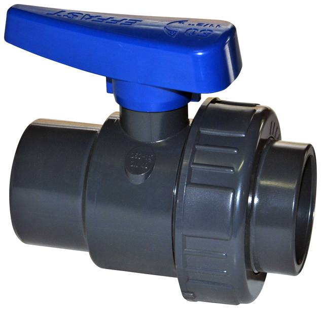EFFAST PVC kogelkraan 1x wartel 20 mm (drukklasse 16 Bar)