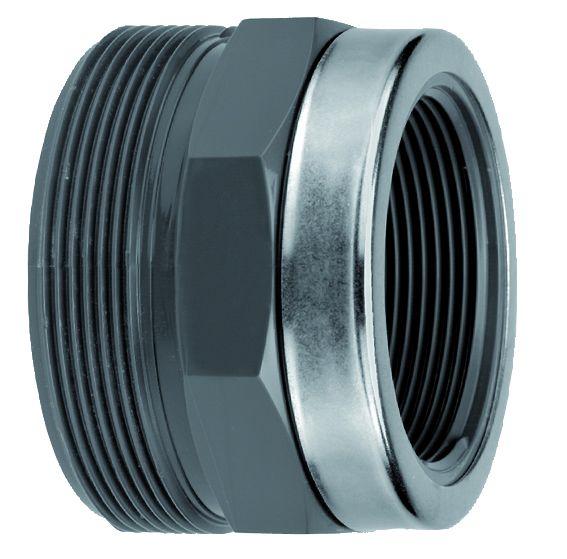 VDL PVC 110 mm x 4'' draadeind diam mm x binnendraad & ring