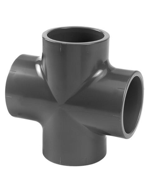VDL PVC kruisstuk 90 x 90 mm PN10
