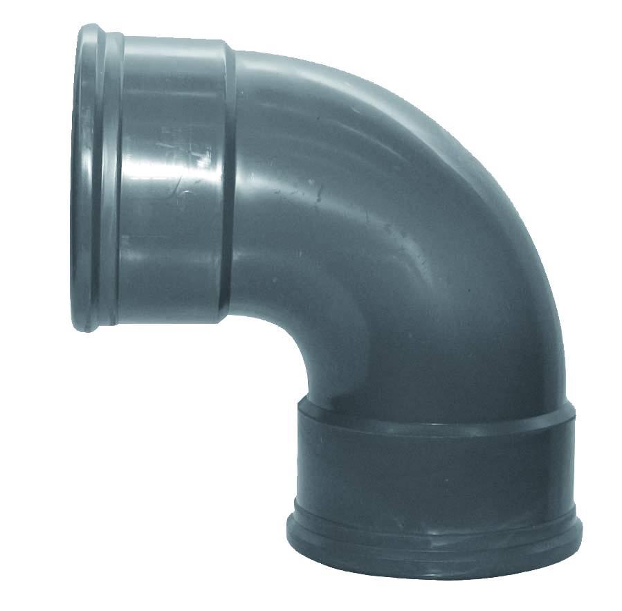 PVC bocht 88 graden 250 mm SN8 (mof/mof)