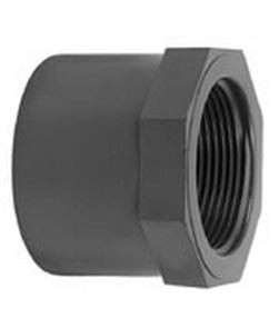 VDL PVC verloopring achtkant lijm 20 mm x 1/4'' PN16