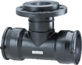Plasson Elektrolas T-stuk 160 mm x DN80 x 160 mm - 90 graden met flensaftakking