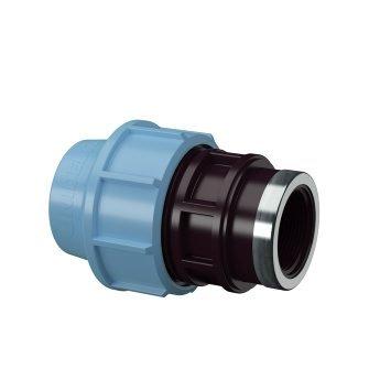 """Unidelta PE koppeling x binnendraad 16 mm x 3/4"""""""