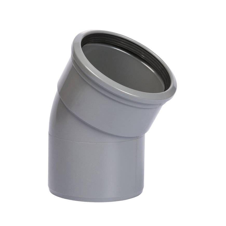 PVC bocht 30 graden 110 mm SN4/SN8 (mof/spie)