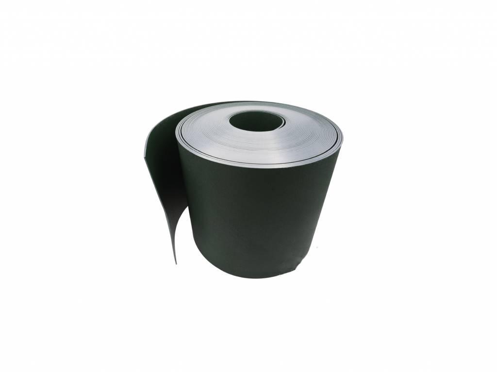 Gietrand zwart HDPE 2 mm breedte 30 cm, L = 25 meter