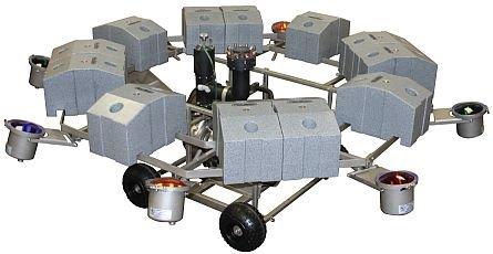 AquaMaster 4 x 500 W verlichtingsset Celestial RVS